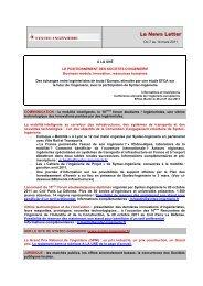 Du 7 au 14 mars 2011 A LA UNE LE ... - Syntec ingenierie