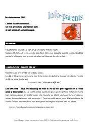 Info-parents sept-oct 2012 - Bureau virtuel de la CSSMI