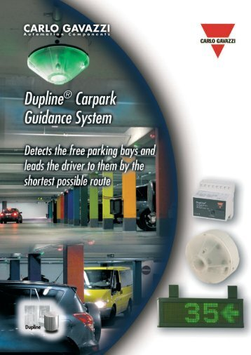Carlo Gavazzi's Parking Guidance System Brochure