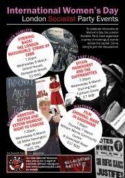 International Women's Day: London Socialist Party 2013 meetings