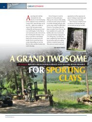 A GRAND TWOSOME FOR SPORTING CLAYS - Clay Shooting USA