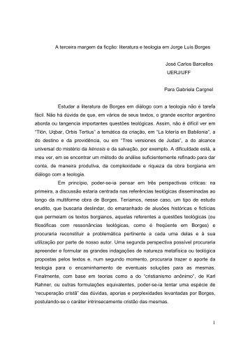 literatura e teologia em Jorge Luís Borges José ... - ALALITE.org