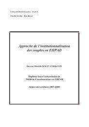 Approche de l institutionnalisation des couples en EHPAD ...