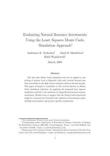 Evaluating Natural Resource Investments Using Monte Carlo ...