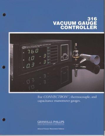 316 VACUUM GAUGE CONTROLLER