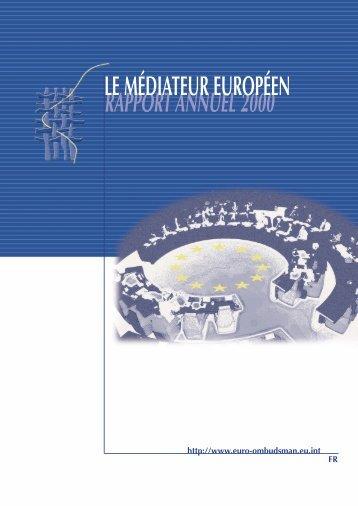Rapport Annuel 2000 du Médiateur européen