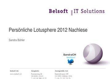 Persönliche Lotusphere 2012 Nachlese