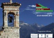 FESTIVAL DELLE ALPI catalogo - Comune di Chiavenna