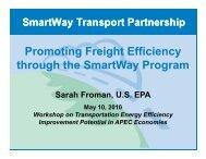 Promoting Freight Efficiency through the SmartWay ... - ESCI KSP