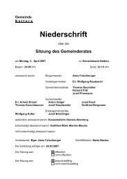 Protokoll vom 2.4.2007 (89 KB) - .PDF - Natters