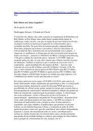 Estadão - Belo Monte será 'uma vergonha'? - Survival International