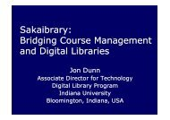 Sakaibrary: Bridging Course Management and Digital ... - IGeLU