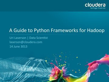 A Guide to Python Frameworks for Hadoop - QCon New York
