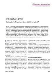Potilaana somali - Terveyskirjasto