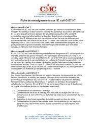 Fiche de renseignements sur l'E. coli O157:H7 - Canadian Meat ...