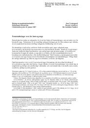 Foranstaltninger over for børn og unge - FT høring - JV ... - Folketinget