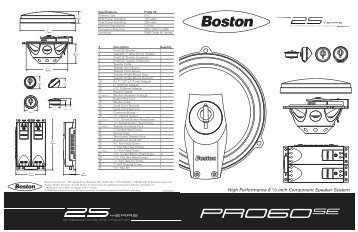Product Manual - Boston Acoustics
