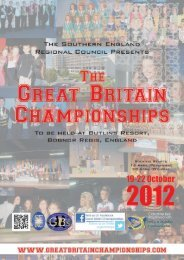 The Southern England Regional Council - The Great Britain ...