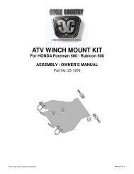 owners manual cc25-1220 - winch mount kit honda - Schuurman B.V.