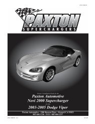 2003-2005 Dodge Viper - Paxton Superchargers
