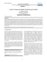 A Review of Number Portability in Global System for Mobile