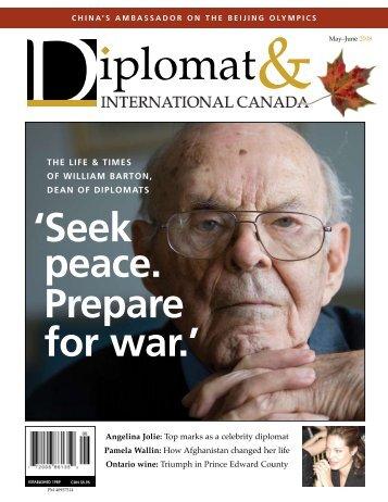' seek peace. prepare for war.' - Diplomat Magazine