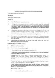 field mutual indemnity and hold harmless deed - Cairn Energy PLC