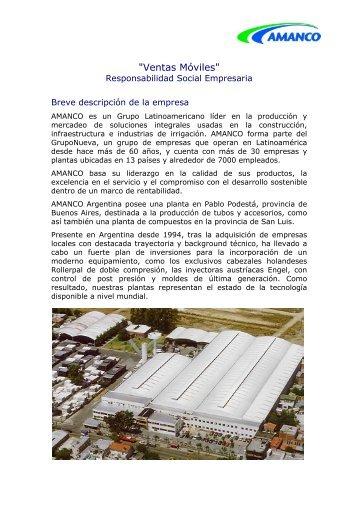 Amanco.Ventas Móviles. - Consejo Empresario Argentino para el ...