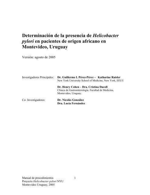 Manual de procedimientos - Clínica de Gastroenterología. - Hospital ...