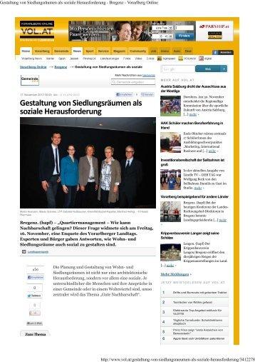 Gestaltung von Siedlungsräumen als soziale ... - Vision Rheintal