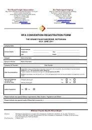 RFA CONVENTION REGISTRATION FORM - MCLI