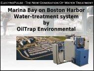 Marina Bay on Boston Harbor Water-treatment system by OilTrap ...
