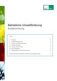 Infoblatt zur Endabrechnung - Kommunalkredit Public Consulting