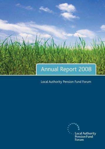 2008 Annual Report - LAPFF