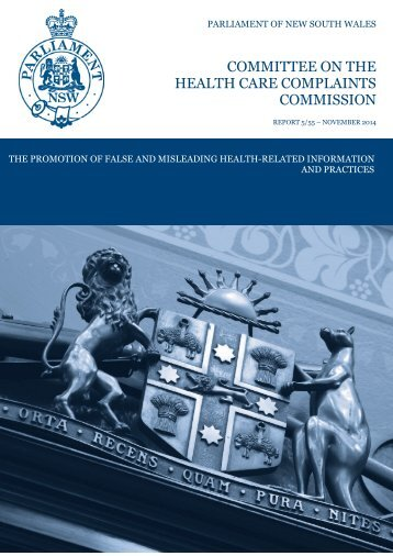 Final Report - The Promotion of False and Misleading Health-Related Information and Practices