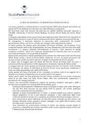 1 IL PRIVATE BANKING: UN MONDO DAI CONFINI SFUMATI Una ...