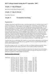 Valg af dirigent Ad pkt. 2: Valg af referent Ad pkt. 3: Formand