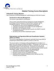 Detailed Training Course Descriptions - Department of Public Works ...