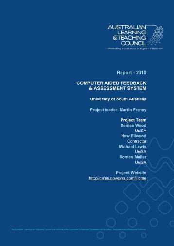 PP654 UniSa Freney - Final Report Feb 2010.pdf - Office for ...