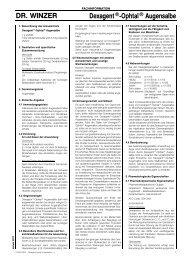 DR. WINZER Dexagent®-Ophtal® Augensalbe