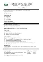 Material Safety Data Sheet - Era Polymers