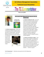 Technical Council Newsletter - Spring 2010 - Air & Waste ...
