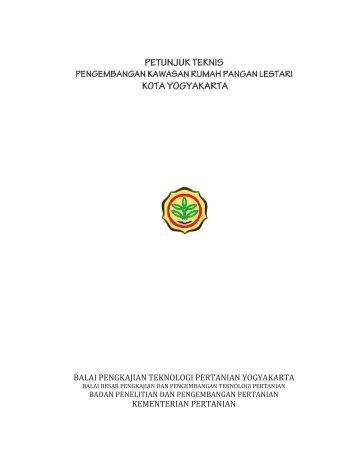 BALAI PENGKAJIAN TEKNOLOGI PERTANIAN ... - BPTP Yogyakarta