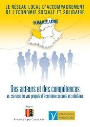 le réseau local d'accompagnement du Vaucluse - CRESS PACA