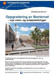 Informasjonsbrosjyre Stortorvet - Fredrikstad kommune