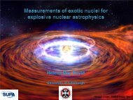 Measurements of exotic nuclei for explosive nuclear ... - SUPA