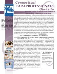 Connecticut Paraprofessionals Guide to ADD/ADHD - The State ...