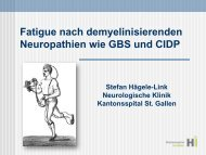 Fatigue GBS SHG - Guillain-Barré Syndrom