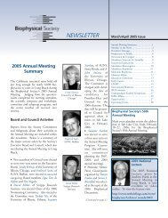 March/April - Biophysical Society