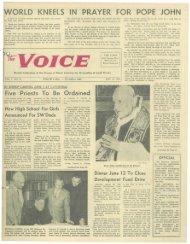 ORLD KNEELS IN PRAYER FOR POPE JOHN - E-Research